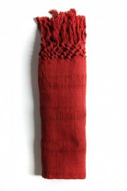 Rebozo rouge en coton bio