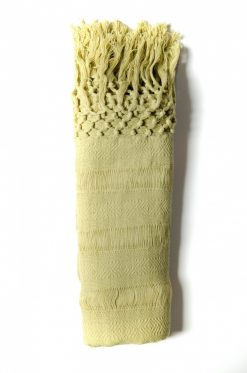 Lime green Rebozo in organic cotton