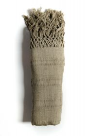 Rebozo scarf in organic cotton (Copy) - Olive green