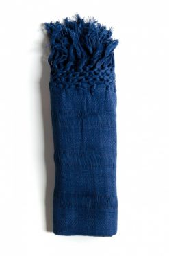 Rebozo blue organic cotton