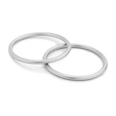 Set of 2 aluminum sling carrying rings