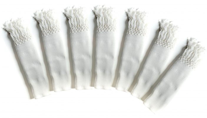 Pack of 7 white Rebozos for rituals and Rebozo care.