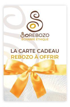 Carte cadeau écharpe de portage Rebozo pour une naissance